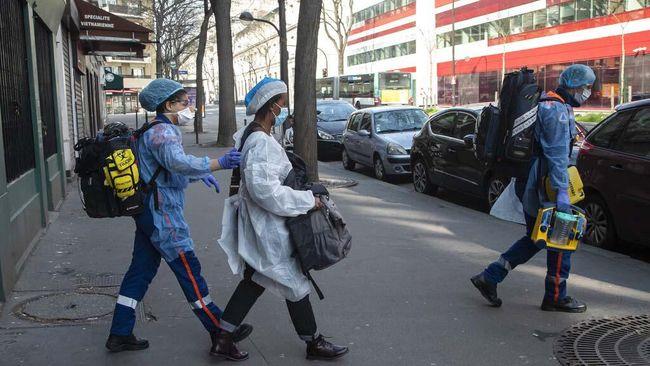 Prancis mencatatkan hampir 9.000 kasus virus corona baru selama 24 jam terakhir.