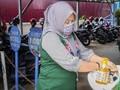 BPJS Kesehatan Tembilahan Sedia Wastafel untuk Cegah Corona