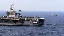 Kapal Induk AS Latihan di LCS, Perdana di Era Biden
