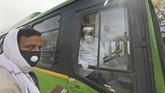 Pemerintah New Delhi meminta polisi untuk mengajukan kasus pidana terhadap kelompok Tablighi Jamaat.(AP Photo/Manish Swarup)