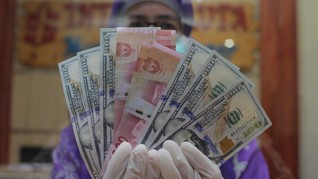 AS Ricuh, Rupiah Bangkit ke Rp14.415 per Dolar AS