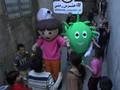 VIDEO: Dora dan Kung Fu Panda Lawan Virus Corona di Gaza