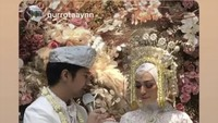 Pernikahan Mega dan Najauta dilaksanakan di Bandung, Jawa Barat. Sayangnya, karena wabah corona, pernikahan Mega dilangsungkan secara tertutup, Bun. (Foto: Instagram @megaiskanti)