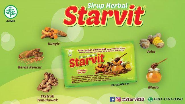 Sejuta Manfaat Jamu Tradisional dalam Satu Sachet Starvit