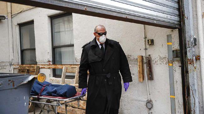 Pemerintah Kota New York berencana untuk memakamkan sementara korban virus corona di Pulau Hart jika situasi mendesak.