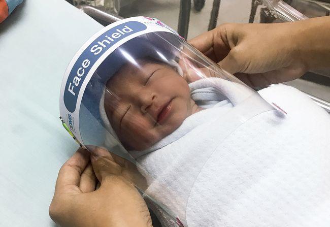 Face Shield Mini Untuk Bayi Yang Baru Lahir Di Thailand
