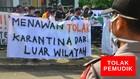 VIDEO: Ditolak Warga, Belasan Pemudik Solo Dikarantina