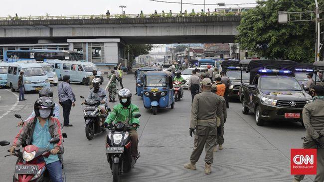 Peningkatan jumlah kendaraan yang masuk Jakarta diprediksi berkurang jika Bodetabek sudah berlakukan PSBB.