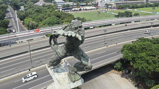 Patung-patung di era Sukarno menampilkan deskripsi tokoh yang kuat akan ekspresi sesuai keinginan sang presiden saat itu.