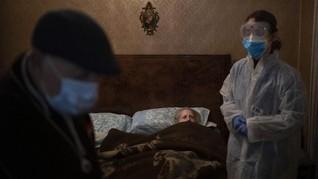 FOTO: Lansia Spanyol Rentan Terinfeksi Virus Corona