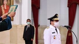 Hari Pertama Berkantor, Wagub Riza Patria Belum Bahas Corona