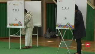 VIDEO: Korea Selatan Gelar Pemilu di Tengah Pandemi Corona