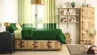 <p>Kamar ini bisa jadi inspirasi untuk anak yang sudah beranjak remaja. Tempat tidur yang terbuat dari kayu dengan laci di bawahnya. Sehingga dapat membuat ruangan terlihat ringkas karena penyimpanan terletak di bawah kolong. (Foto: iStock)</p>