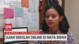 VIDEO: Ujian Sekolah Online di Mata Siswa
