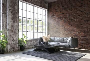 7 Inspirasi Ruang Tamu Rumah Minimalis Bergaya Industrial Foto 1