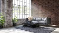 Rumah minimalis dengan gaya industrial sedang menjadi tren hunian favorit, Bun. Gaya ini bisa diterapkan di ruang tamu lho. (Foto: iStock)