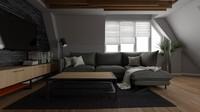 Warna abu-abu dan hitam menjadi warna utama di gaya rumah ini, Bun. Namun, kita tetap bisa menambahkan warna putih di dinding dan cokelat untuk furnitur seperti meja. (Foto: iStock)