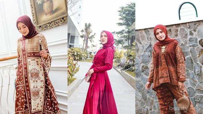 5 Padu Padan Hijab Maroon yang Elegan untuk ke Pesta