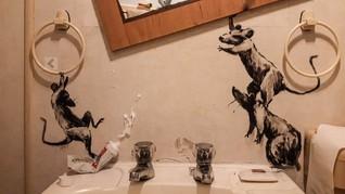 Banksy Ungkap Karya Terbaru saat Kerja dari Rumah kala Corona
