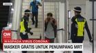 VIDEO: Masker Gratis Untuk Penumpang MRT