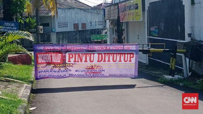 Suasana PSBB hari pertama di Tangerang Selatan