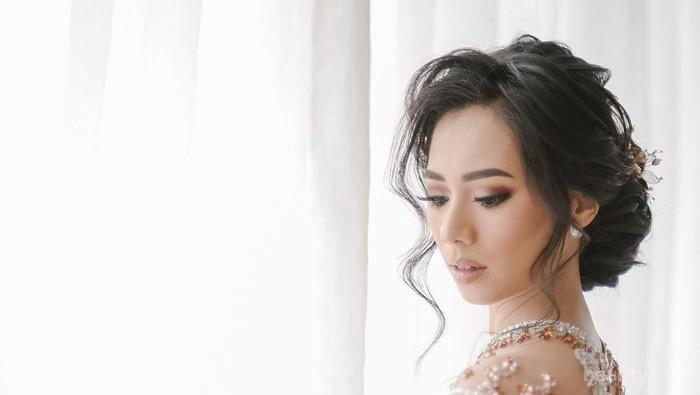 Makeup Abel Cantika Saat Resepsi di Jakarta, Makin Cantik dan Bikin Pangling!