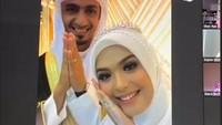 <p>Vebby tampil cantik dengan gaun putih, sedangkan Razi terlihat tampan mengenakan pakaian khas Arab. (Foto: Instagram Story @dianayulestari)</p>