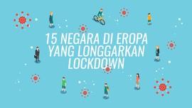 INFOGRAFIS: 15 Negara di Eropa yang Longgarkan Lockdown