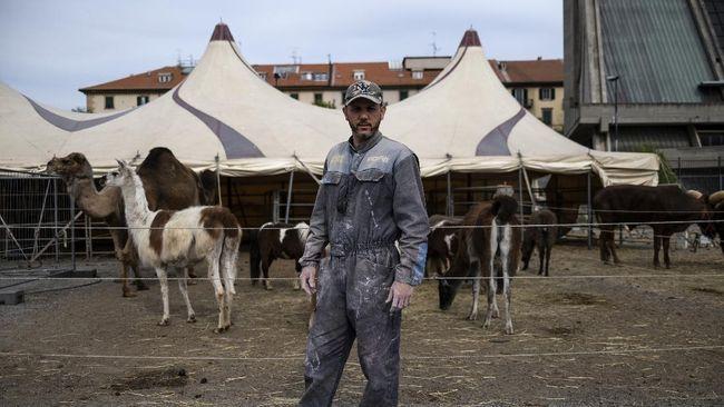 Circus director Derek Codaprin poses in the