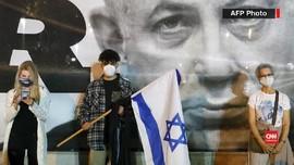 VIDEO: Demo Jaga Jarak Warga Israel untuk Menentang Netanyahu