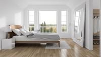 Cermin besar dapat diletakkan di depan tempat tidur seperti ini, Bun. Cermin besar dapat menyiasati kamar yang berukuran kecil supaya terlihat besar. (Foto: iStock)