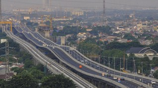 Jasa Marga Tutup Tol Layang Japek II Patuhi Larangan Mudik