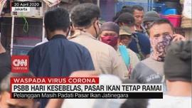 VIDEO: PSBB Hari Kesebelas, Pasar Ikan Tetap Ramai