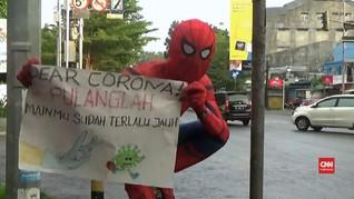 VIDEO: 'Superhero' Kampanyekan Bahaya Corona di Makassar