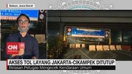VIDEO: Akses Tol Jalan Layang Jakarta-Cikampek Sudah Ditutup