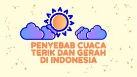 INFOGRAFIS: Penyebab Cuaca Terik dan Gerah di Indonesia