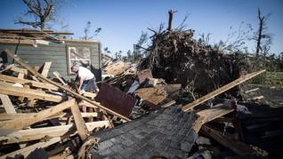 FOTO: Badai Terjang AS saat Pandemi Corona