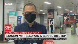 VIDEO: Stasiun MRT Senayan & Benhil Ditutup Selama PSBB