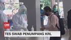 VIDEO: Petugas Gabungan Tes Swab Massal Penumpang KRL