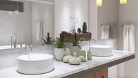 <p>Tak ada salahnya meletakkan tanaman dalam kamar mandi, Bunda. Ini akan membuat tampilan kamar mandi terasa lebih segar dan hidup.(Foto: Getty Images/Ibrahim Akcengiz)</p>