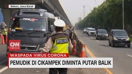 VIDEO: Pemudik di Cikampek Diminta Putar Balik