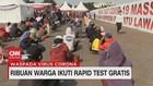 VIDEO: Ribuan Warga Ikuti Rapid Test Gratis