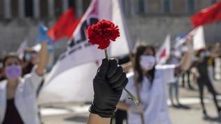 FOTO: Peringatan May Day di Tengah Pandemi Covid-19