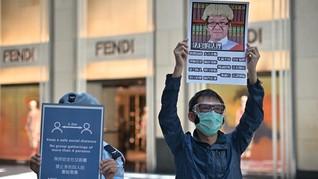Pedemo Hong Kong Tetap Gelar Aksi Hari Buruh di Tengah Corona