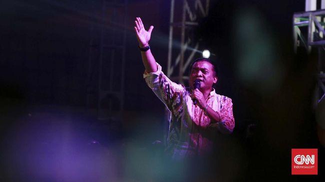 THE GODFATHER OF BROKEN HEART DIDI KEMPOT. (CNNIndonesia/Andry Novelino)