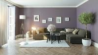 Deep purple juga bisa jadi ide menarik nih untuk warna dinding rumah minimalis Bunda. (Foto: Getty Images/iStockphoto/vicnt)