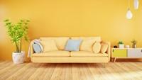 """<span style=""""color: rgb(80, 0, 80); font-family: Arial, Helvetica, sans-serif; font-size: small;"""">Warna kuning cerah yang dipoles ke dinding rumah akan membuat ruangan tampak lebih ceria dan hangat. (</span>Foto: Getty Images/asbe)"""