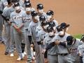FOTO : Liga Bisbol Korea Selatan Dimulai dengan Wajib Masker