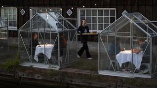 FOTO: Restoran Rumah Kaca Belanda untuk Cegah Corona