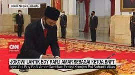 VIDEO: Jokowi Lantik Boy Rafli Amar Sebagai Ketua BNPT
